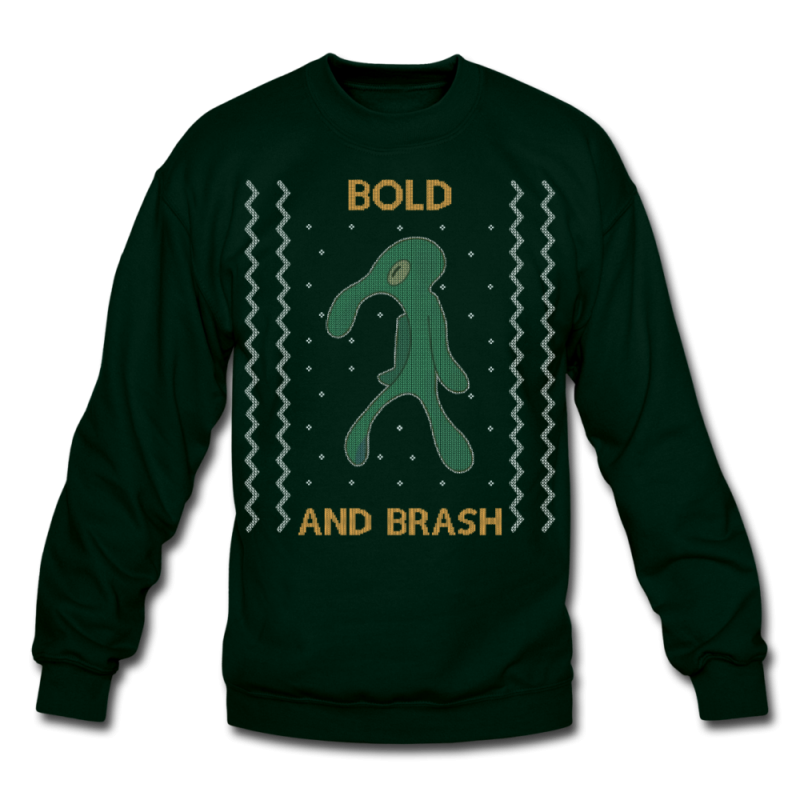Bold And Brash Ugly Christmas Sweater - forest green