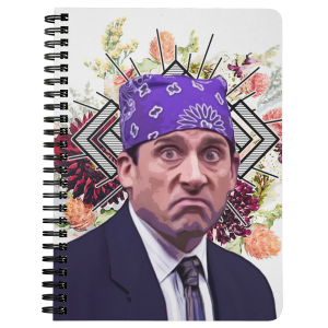 Prison Mike Spiral Notebook -  Funny Journals - Michael Scott the Office TV Show meme